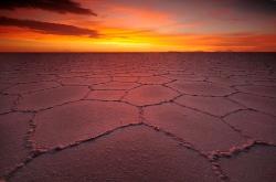 Atardecer en el Salar de Uyuni